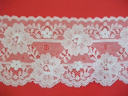 Exclusive ENGLISH Nottingham Cotton Cluny Lace Vintage style- WHITE FC194,Bridal